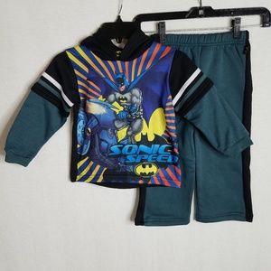 NEW 2 PCS Set Batman Sweater Hoodie & Pants Set 2T